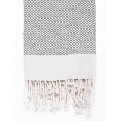 Peshtemal Fouta Cotton Bath Towel Color: Light Gray
