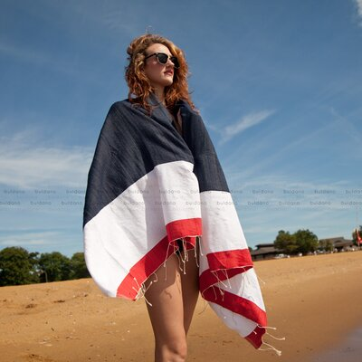 Nautical Sailor Beach Towel