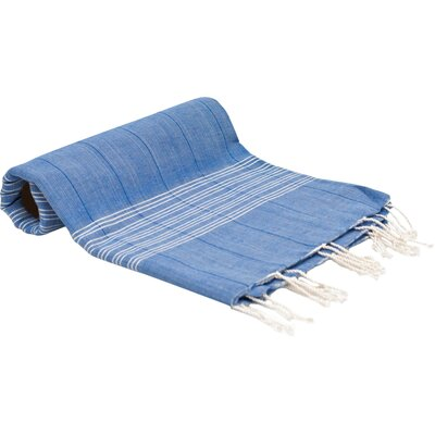 Turkish Fouta Yoga Peshtemal Bath Towel Color: Blue