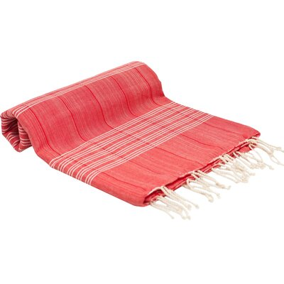 Turkish Fouta Yoga Peshtemal Bath Towel Color: Red