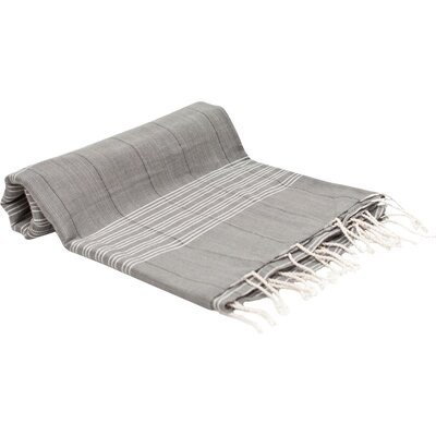 Turkish Fouta Yoga Peshtemal Bath Towel Color: Light Gray