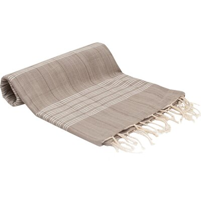 Turkish Fouta Yoga Peshtemal Bath Towel Color: Latte