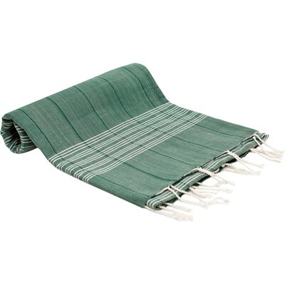 Turkish Fouta Yoga Peshtemal Bath Towel Color: Green