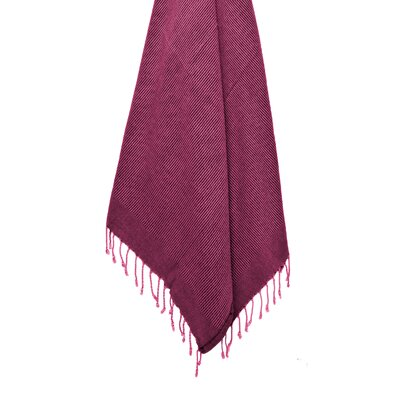 Stone Washed VIntage Peshtemal Turkish Beach Towel Color: Pink