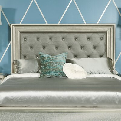 Platinum Upholstered Panel Headboard