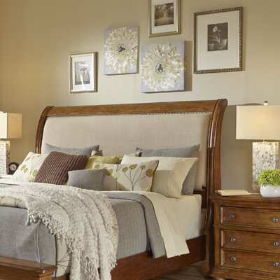 Paxton Upholstered Sleigh Headboard Size: Queen