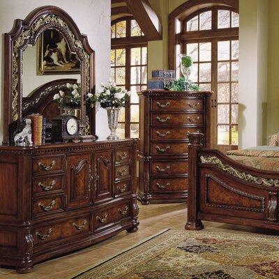San Marino 8 Drawer Combo Dresser with Mirror