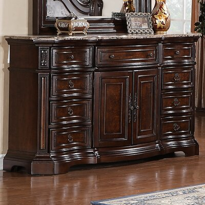 Edington 9 Drawer Combo Dresser