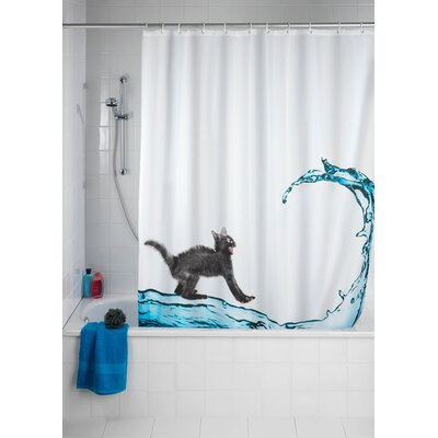 Cat Anti-mold Shower Curtain