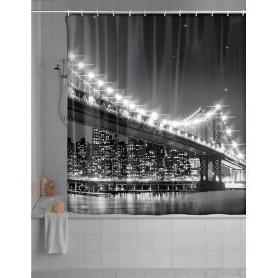 Brooklyn Bridge LED Shower Curtain
