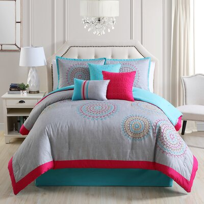 Gloriane Comforter Set Size: Queen