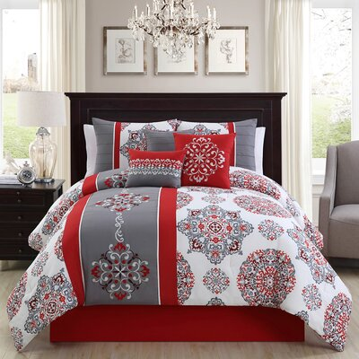 7 Piece Comforter Set Size: King
