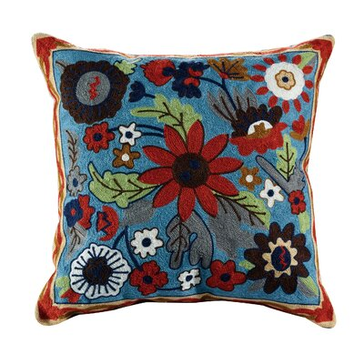 Liam Embroidered Cotton Throw Pillow