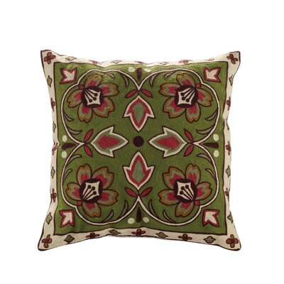 Bredbeddle Embroidered Cotton Throw Pillow