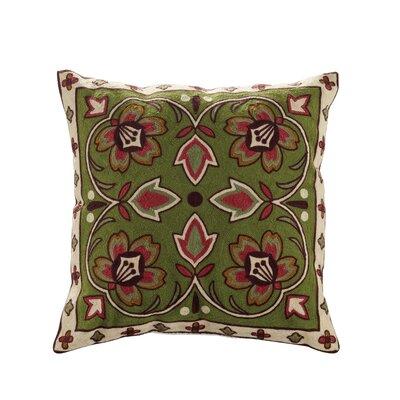 Bredbeddle Embroidered Cotton Throw Pillow