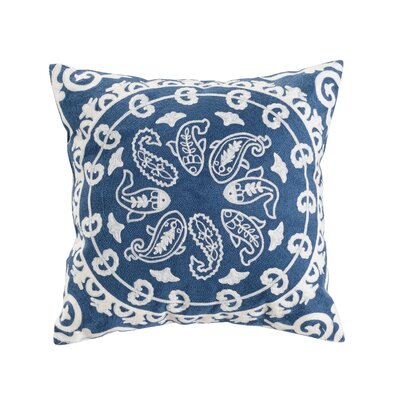 Pastie Embroidered Cotton Throw Pillow