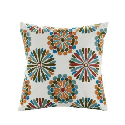 Madalyn Embroidered Cotton Throw Pillow