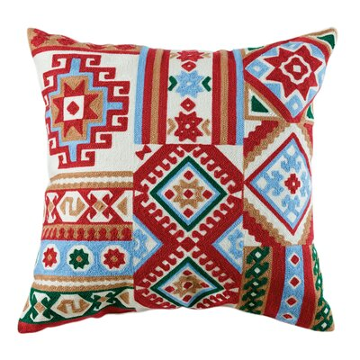 Willa Embroidered Cotton Throw Pillow