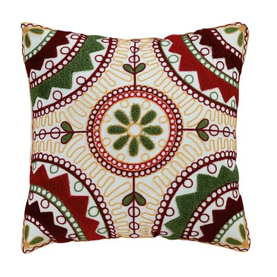 Weston Embroidered Cotton Throw Pillow