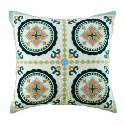Mairead Embroidered Cotton Throw Pillow