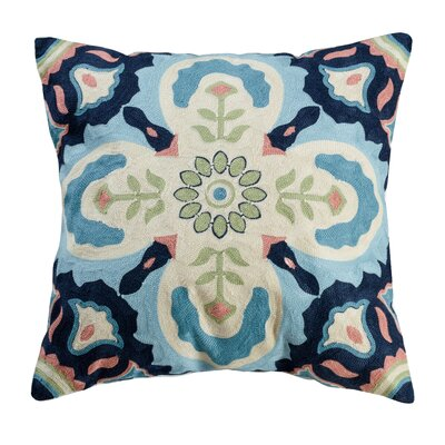 Ishild Embroidered Cotton Throw Pillow