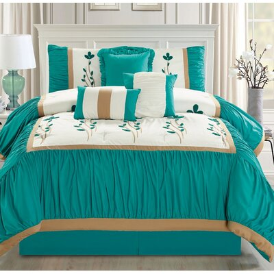 Emma 7 Piece Comforter Set Size: Queen