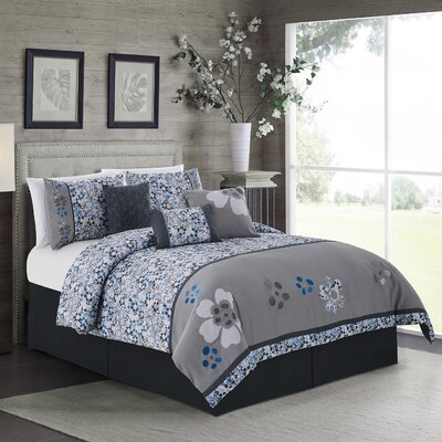Daisy 7 Piece Comforter Set Size: Queen