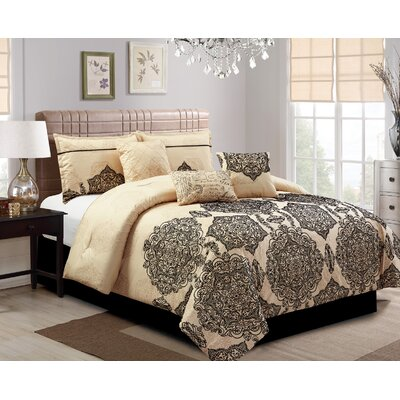 Ganan Embroidery 7 Piece Comforter Set Size: King
