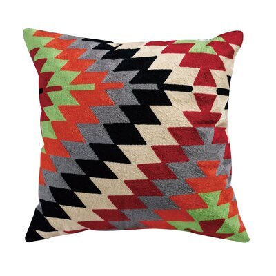 Conrad Embroidered 100% Cotton Throw Pillow