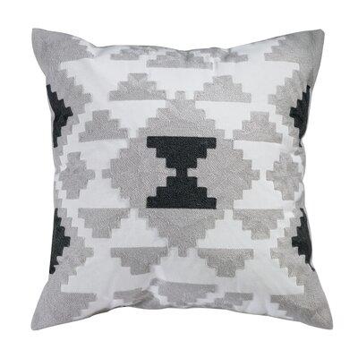 Alvaro Embroidered 100% Cotton Throw Pillow