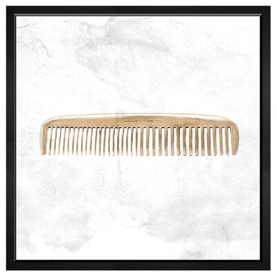 Vintage Comb by Hatcher and Ethan Framed Graphic Art Size: 36