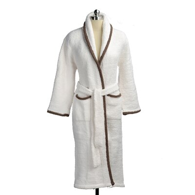 Shawl Collar Robe Color: Cream/Agate