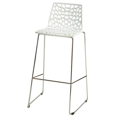 30 Bar Stool Finish: Glossy White