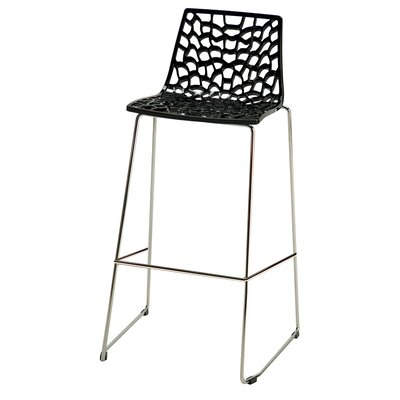 30 Bar Stool Finish: Glossy Black