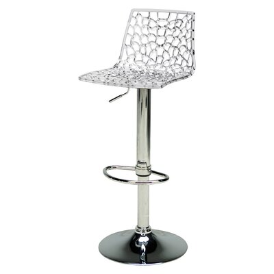 Adjustable Height Swivel Bar Stool Finish: Crystal Clear
