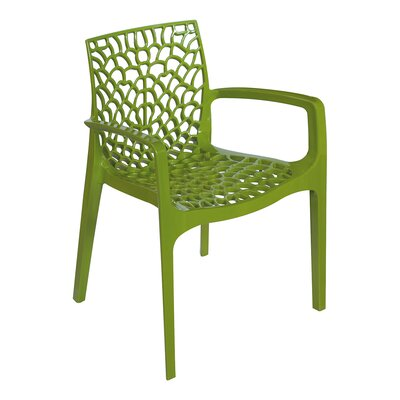 Arm Chair Finish: Glossy Green