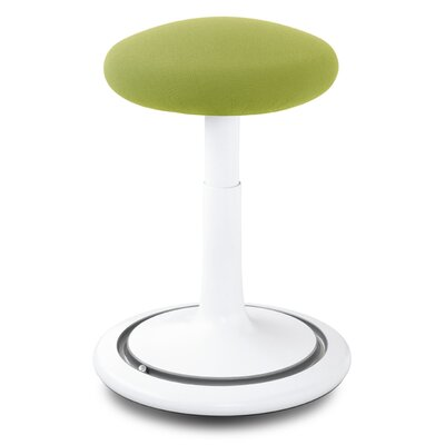 Adjustable Height Bar Stool Upholstery: White/Light Green/Gray