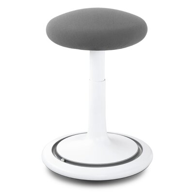 Adjustable Height Bar Stool Upholstery: White/Gray