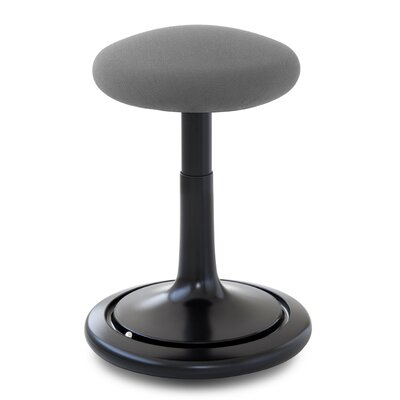 Adjustable Height Bar Stool Upholstery: Black/Gray