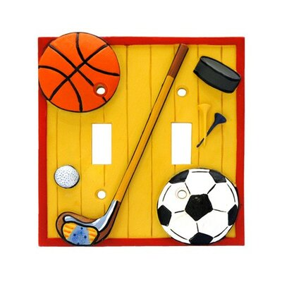 Lets Play Ball Double Switch Plate
