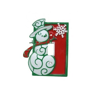 Snowman Single Switch Plate