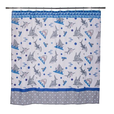 Justin Fishn Sharks Mini Polka Dot Shower Curtain