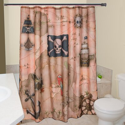 Julius Pirates Treasure Map Shower Curtain