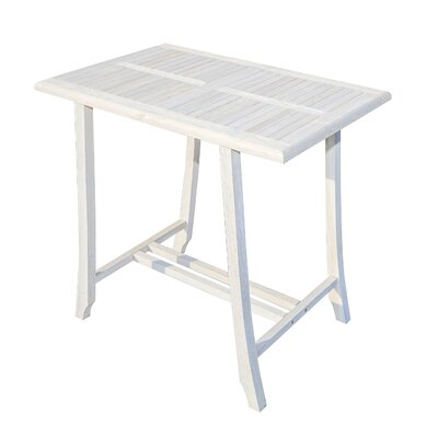 Satori Pub Table Color: Coastal Vogue, Tabletop Size: 40 H x 36 W x 24 D