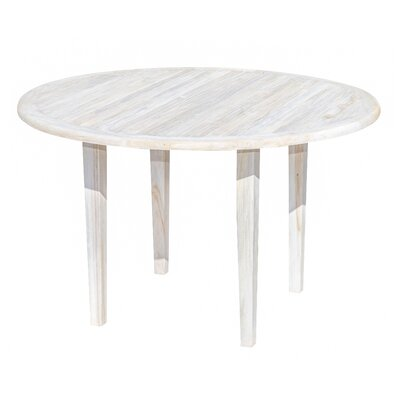 Oasis Teak Dining Table Color: Coastal Vogue, Size: 30 H x 48 W x 48 D