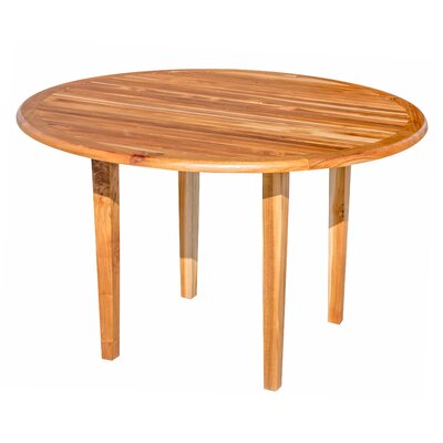 Oasis Teak Dining Table Color: Natural, Size: 30 H x 36 W x 36 D