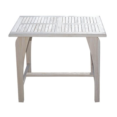 Tranquility Teak Dining Table Color: Coastal Vogue, Size: 30 H x 36 W x 24 L