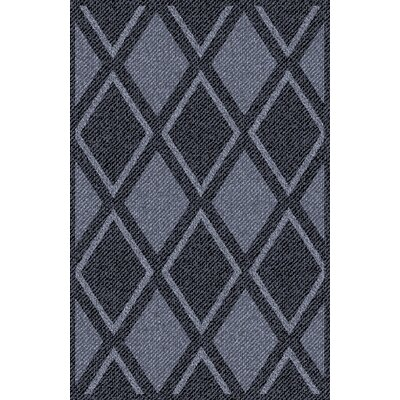 Spaces Home and Beyond Twill Diamond Gray/Black Area Rug Rug Size: 25 x 5