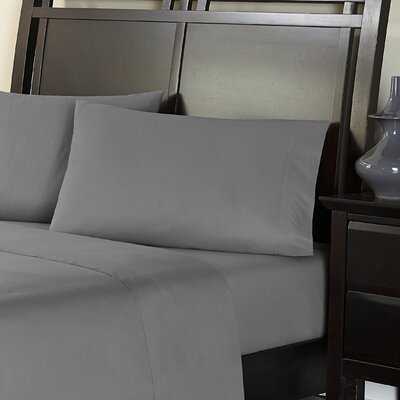 Amaze 310 Thread Count 100% Cotton Sheet Set Size: Twin, Color: Pewter