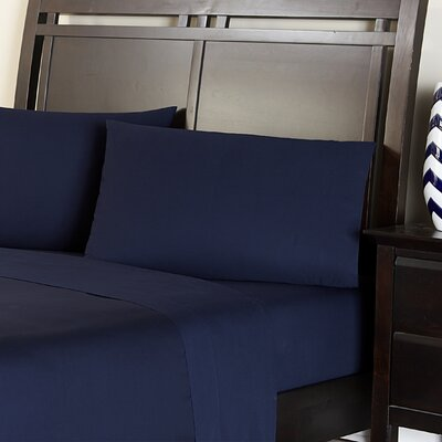 Amaze 310 Thread Count 100% Cotton Sheet Set Color: Navy Blue, Size: King